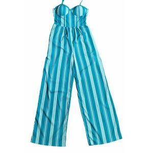 Band of Gypsies Jumpsuit With Straps & Pockets, XS